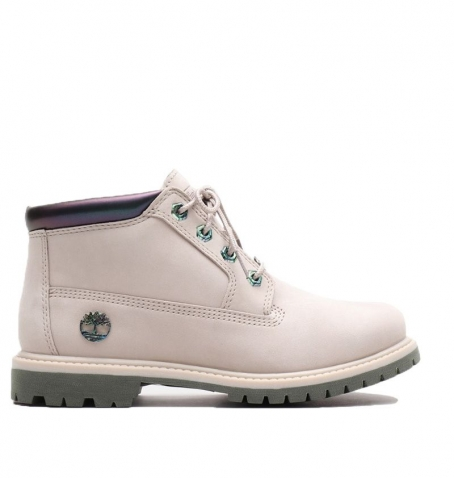 Boots Femme Timberland Nellie Chukka - Taupe nubuck et Collier Iris