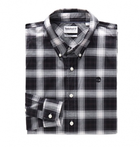 Chemise Homme Timberland LS Eastham River Stretch Poplin Tartan - Coupe slim