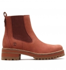 Bottines Femme Timberland Courmayeur Valley Chelsea - Rouille nubuck