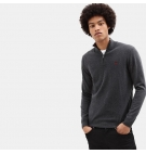 Pull 1/2 Zip Homme Timberland Cohas Brook Merino Sweater - Coupe droite