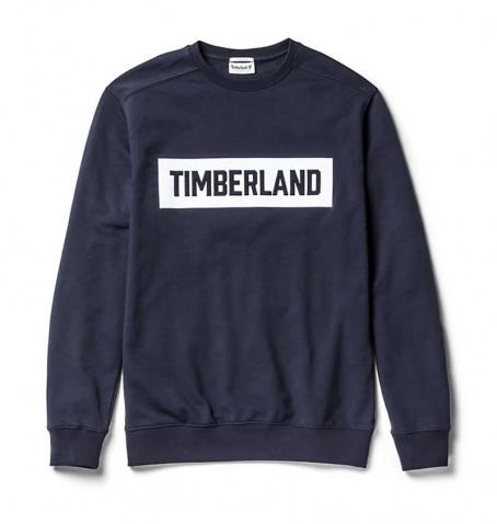 Sweat Homme Timberland Shedd Brook 3D Emboshed Logo - Col rond