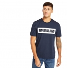 T-shirt Homme Timberland SS Mink Brook 3D Embossed Brand Carrier Tee