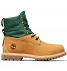Boots Femme Timberland 6-inch Fabric ReBOTL and Leather WP - Wheat nubuck