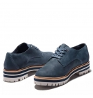 Chaussures Femme Timberland London Square Oxford - Bleu marine nubuck