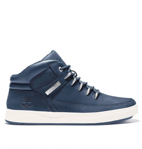 Chaussures Homme Timberland David Square Mid Hiker - Navy nubuck