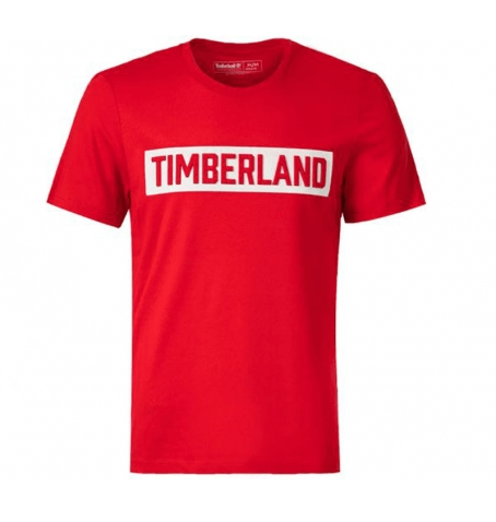 T-shirt Homme Timberland SS Mink Brook 3D Embossed Brand Carrier Tee