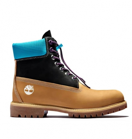 Boots Homme Timberland 6-inch WP Premium Boot - Blé et bleu nubuck