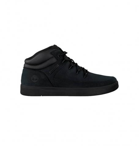 Chaussures Enfant Timberland Davis Square Hiker - Noir nubuck