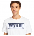 T-shirt Homme Timberland SS Mink Brook Linear Logo Tee - Coupe droite