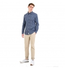 Chemise Homme Timberland LS Eastham River Stretch Popeline - Coupe droite