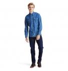 Chemise Homme Timberland LS Mumford River Denim Shirt - Coupe droite