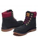Boots Femme Timberland Heritage 6-inch WP Boot - Noir collier rose