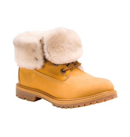 Timberland 61672 - Authentics Shearling Fold Down Boots Femme
