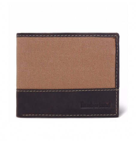 Timberland A1D4M - Waxed Canvas Leather Passcase