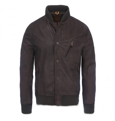 Timberland A13LE - Varsity Leather Bomber Homme