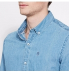 Chemise Homme Timberland LS Fort Hill Chambray Shirt - Coupe Slim