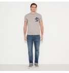 T-Shirt Homme Timberland SS Still River Coolmax Fabric Solid Pocket Crew Neck - Coupe Slim