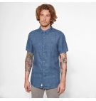Chemise Homme Timberland SS Mill River Linen Shirt - Coupe Slim