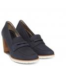 Chaussures Femme Timberland Leslie Anne Mocassin Pump - Bleu foncé nubuck