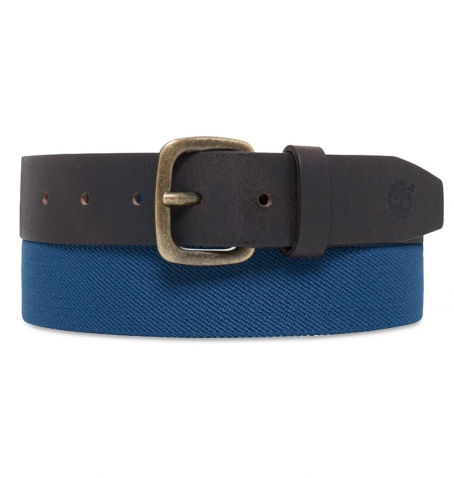 Ceinture Homme Timberland Elastic Canvas And Leather Belt
