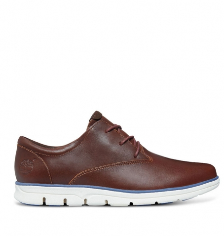 Chaussures Homme Timberland Bradstreet Plain Toe Oxford - Marron full grain