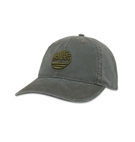 Casquette Homme Timberland Cotton Canvas Cap With Embroidered Tree Logo