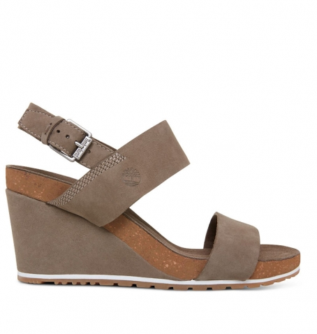 Sandales compensées Femme Timberland Capri Sunset Wedge - Canteen