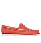 Chaussures Bateau Homme Timberland Classic Boat 2-Eye Boat Shoe - Orange full grain
