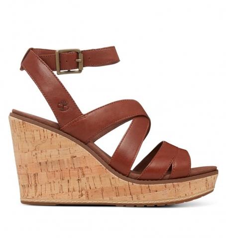 Sandales compensées Femme Timberland Danforth Sandal - Marron