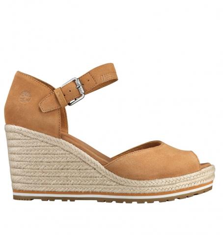 Sandales Femme Timberland Nice Coast Suede Strap Sandal - Beige suède