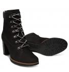 Bottines Femme Timberland Leslie Anne Lace-Up Boot - Noir nubuck