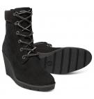 Bottines Femme Timberland Paris Height 6-inch Boot - Noir nubuck