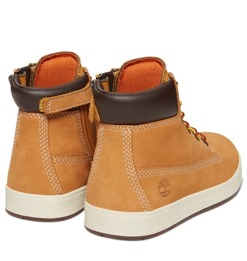 6ea043edabfed Chaussures Enfant Timberland Davis Square 6-inch Boot - Wheat nubuck