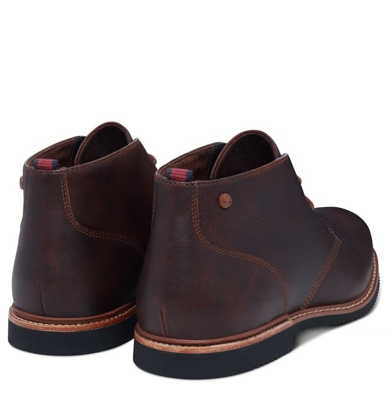 timberland cuir marron homme