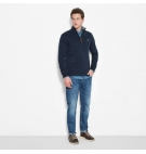 Polo 1/2 Zip Homme Timberland LS Canoe River - Coupe Droite