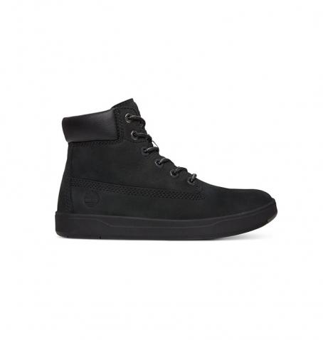Chaussures Junior Timberland Davis Square 6-inch Boot - Noir nubuck