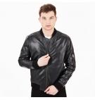 Veste Bomber en cuir Homme Timberland Leather Bomber - Noir