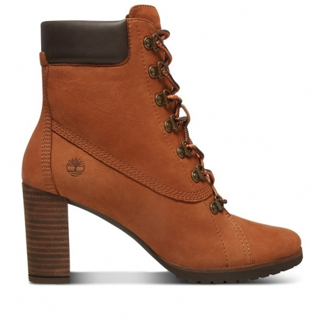 Bottines Femme Timberland Leslie Anne Lace-Up Boot - Rouille Nubuck