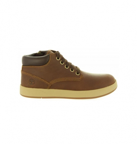 Chaussures Enfant Timberland Davis Square Leather Chukka - Marron