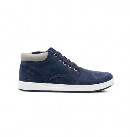 Chaussures Junior Timberland Davis Square Leather Chukka - Bleu marine