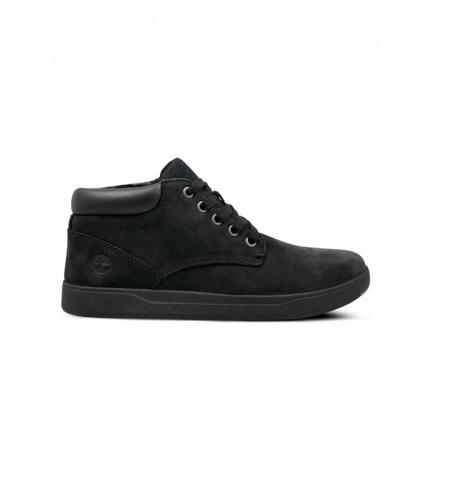 Chaussures Enfant Timberland Davis Square Leather Chukka - Noir
