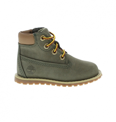 Chaussures Petit Enfant Timberland Pokey Pine 6 inch Boot Vert nubuck