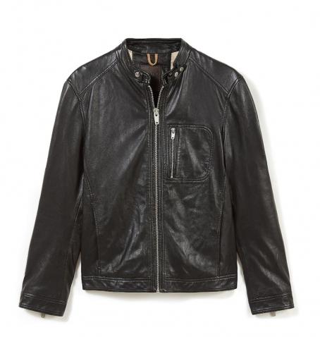 Veste en cuir Homme Timberland Kinksman Mountain Leather Jacket - Noir