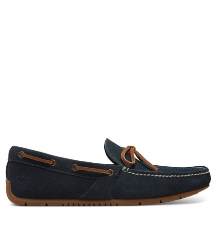 Chaussures Homme Timberland Lemans Gent Driver Moc Boat - Bleu marine