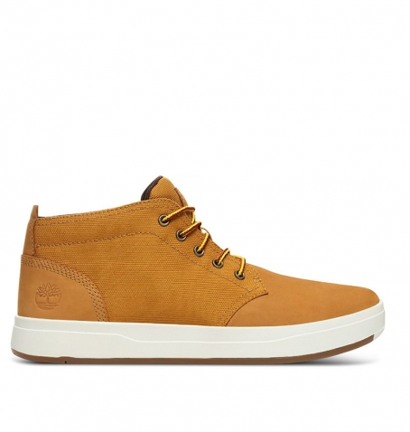 Chaussures Homme Timberland Davis Square Fabric Leather Chukka - Wheat