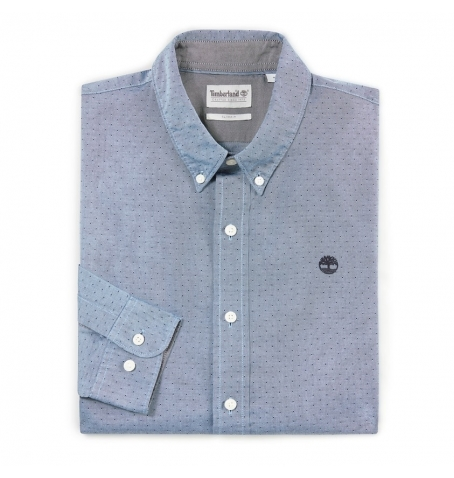 Chemise Homme Timberland LS Tioga River Texture Shirt - Coupe Slim