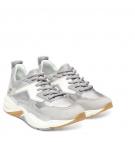 Chaussures Femme Timberland Delphiville Leather Sneaker - Argent Suède