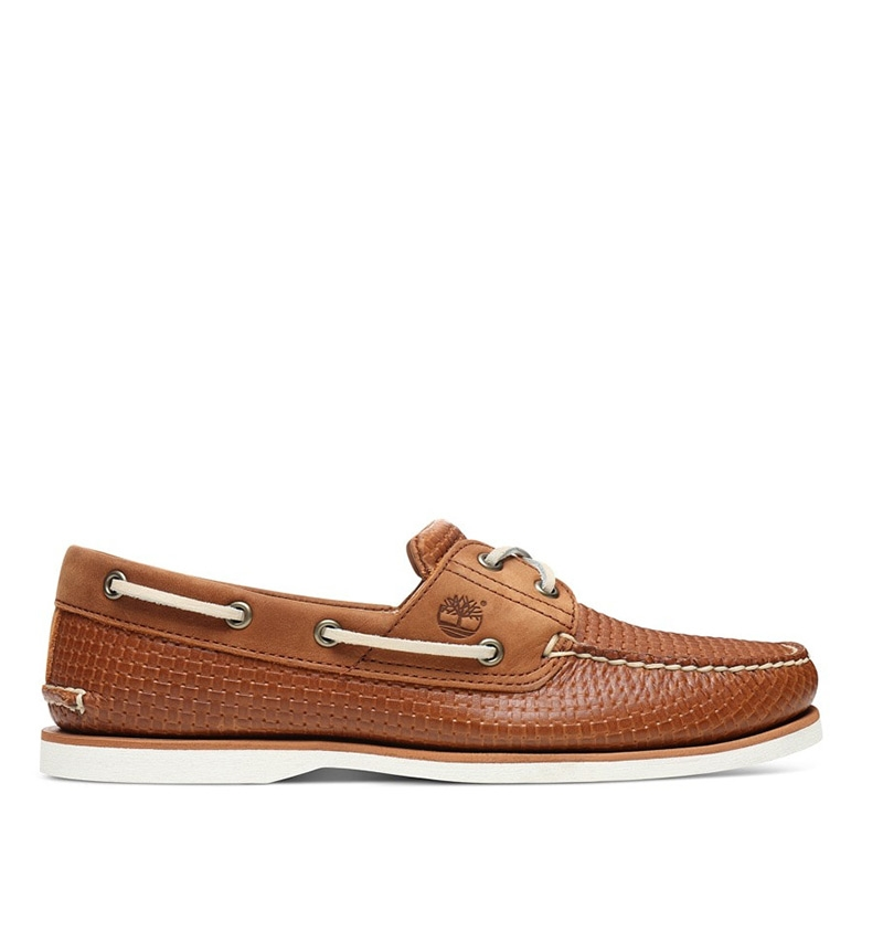 f67e3b4c618 Chaussures Bateau Homme Timberland Classic Boat 2 Eye - Motifs marron