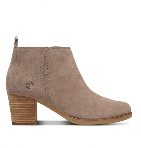 Bottines Femme Timberland Eleonor Street Ankle Boot - Taupe suède