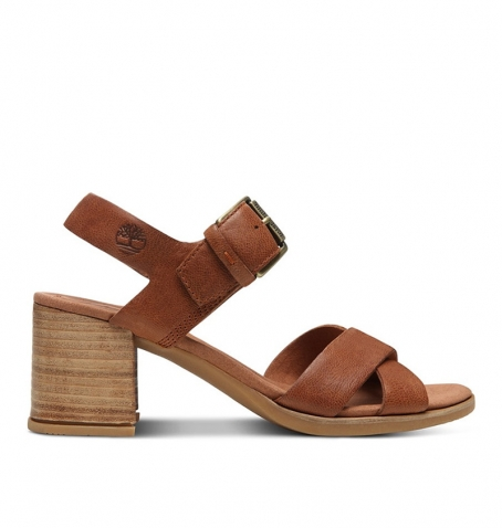Sandales Femme Timberland Tallulah May Cross Band - Rouille full grain